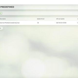 Data Feed Predefined URL Phistank_W