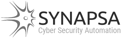 Synapsa logo subtitle monochromatic
